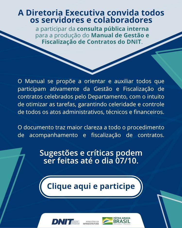 MANUAL DE GESTÃO E FISCALIZAÇÃO DE CONTRATOS DO DNIT