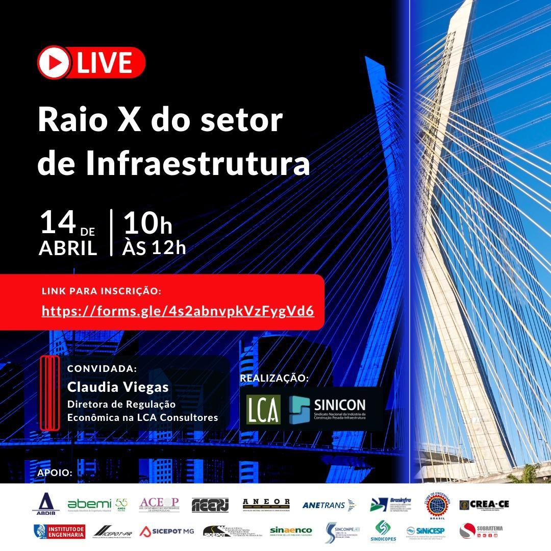 SINICON PROMOVE EVENTO SOBRE RAIO X DA INFRAESTRUTURA BRASILEIRA